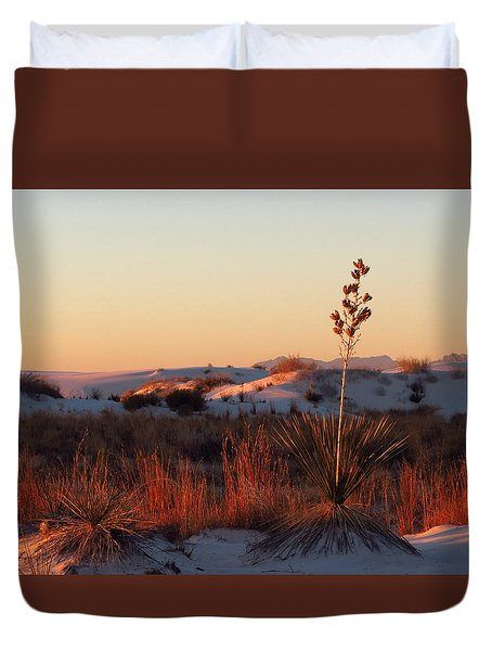 White Sands Dawn #14 Duvet Cover by Cindy McIntyre
