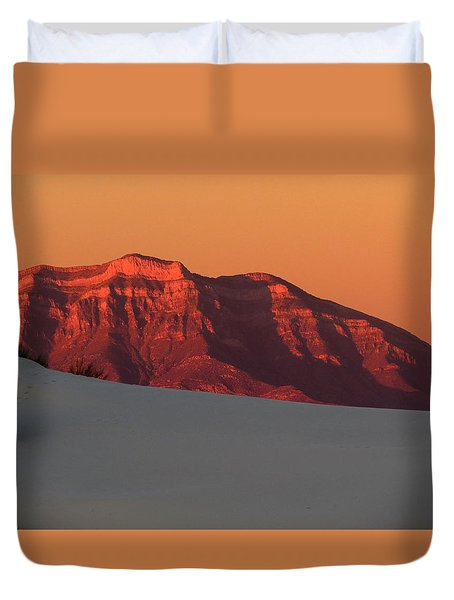 White Sands Dawn #2 Duvet Cover by Cindy McIntyre