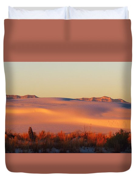 White Sands Dawn #24 Duvet Cover by Cindy McIntyre