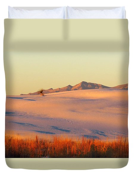 White Sands Dawn #27 Duvet Cover by Cindy McIntyre