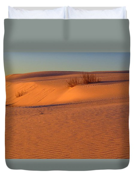 White Sands Dawn #30 Duvet Cover by Cindy McIntyre