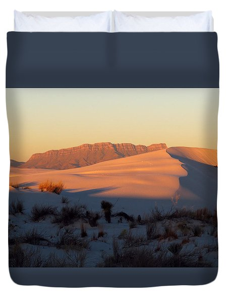 White Sands Dawn #32 Duvet Cover by Cindy McIntyre