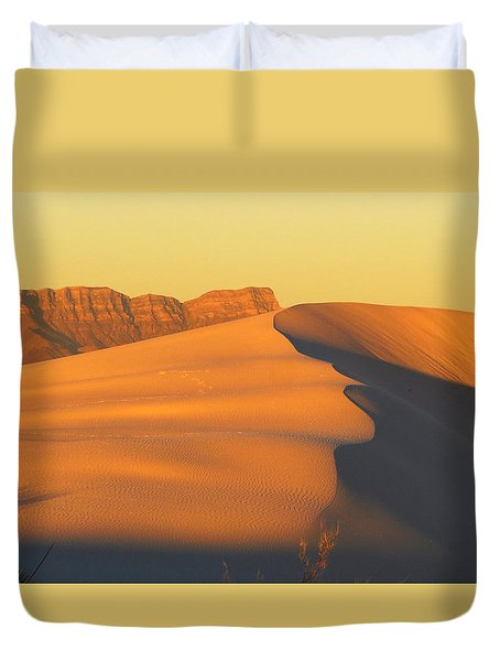 White Sands Dawn #33 Duvet Cover by Cindy McIntyre