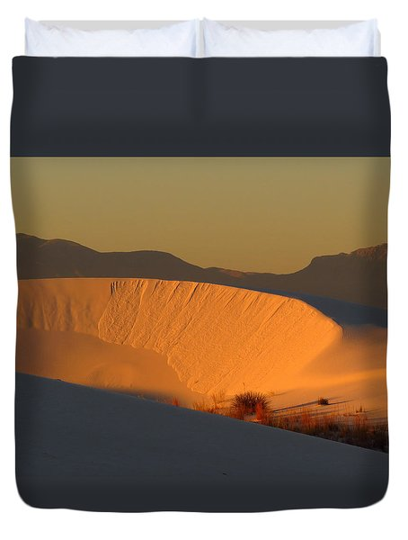 White Sands Dawn #35 Duvet Cover by Cindy McIntyre