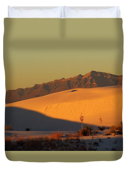 White Sands Dawn #37 Duvet Cover by Cindy McIntyre