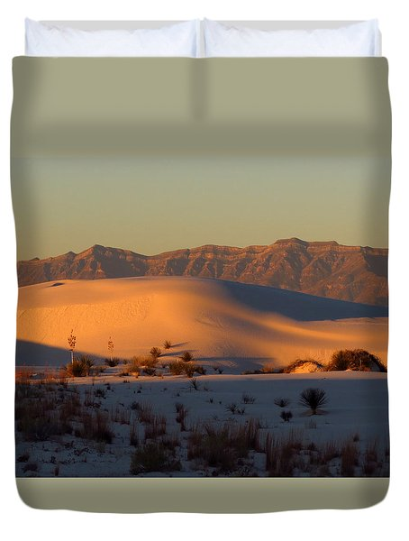 White Sands Dawn #40 Duvet Cover by Cindy McIntyre