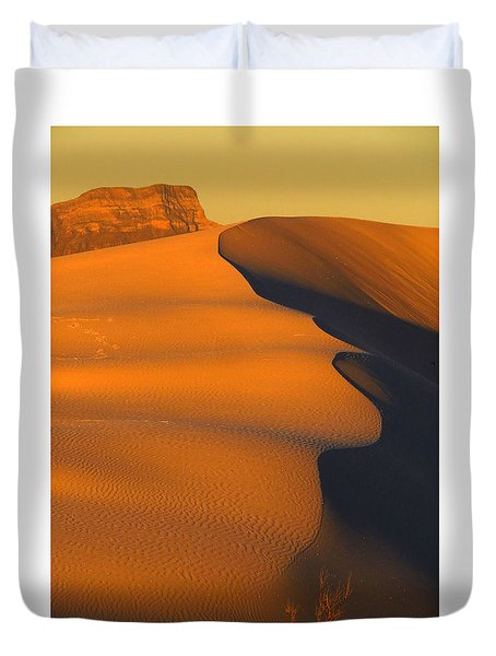 White Sands Dawn #44 Duvet Cover by Cindy McIntyre