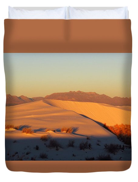 White Sands Dawn #51 Duvet Cover by Cindy McIntyre