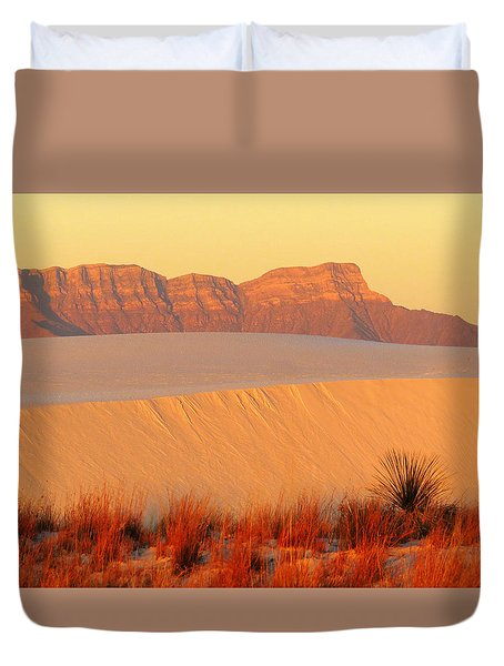 White Sands Dawn #8 Duvet Cover by Cindy McIntyre