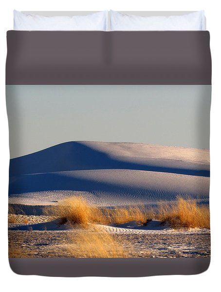 White Sands Evening #11 Duvet Cover by Cindy McIntyre