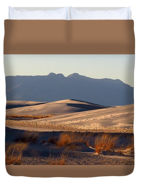 White Sands Evening #13 Duvet Cover by Cindy McIntyre