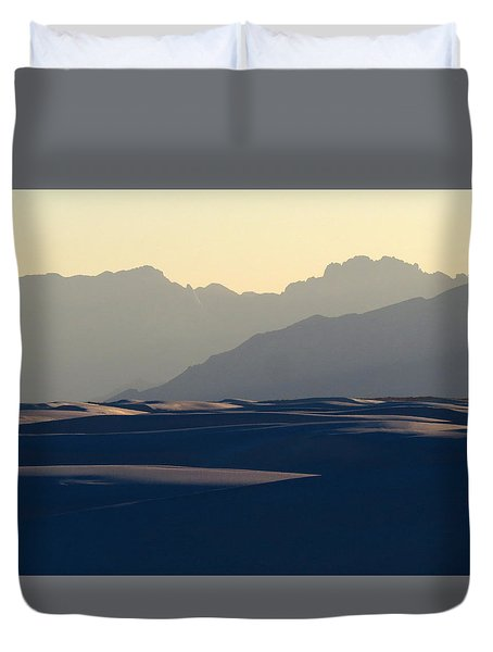 White Sands Evening #30 Duvet Cover by Cindy McIntyre