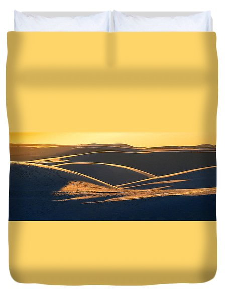 White Sands Evening #32 Duvet Cover by Cindy McIntyre