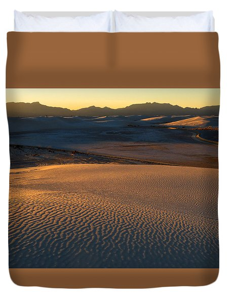 White Sands Evening #35 Duvet Cover by Cindy McIntyre