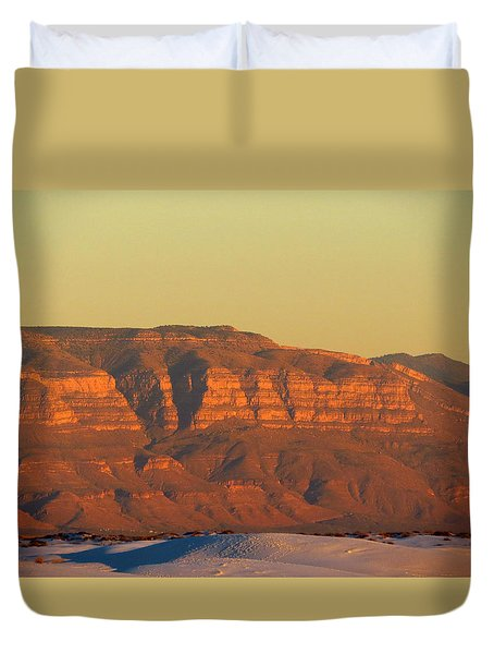 White Sands Evening #37 Duvet Cover by Cindy McIntyre