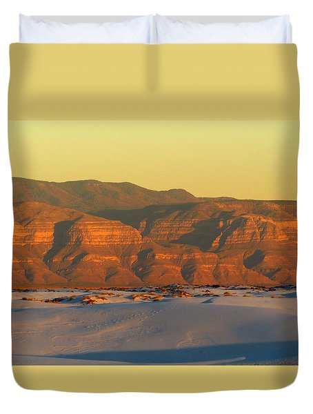 White Sands Evening #39 Duvet Cover by Cindy McIntyre
