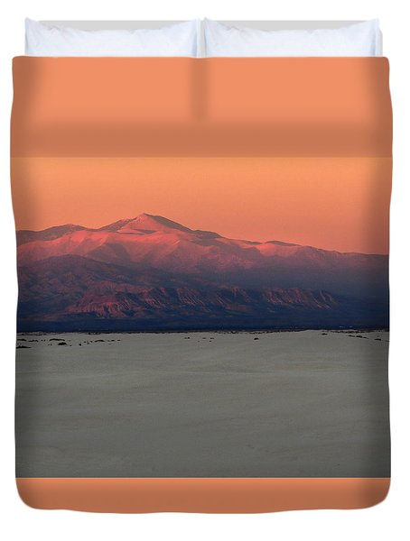 White Sands Evening #48 Duvet Cover by Cindy McIntyre