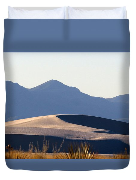 White Sands Evening #5 Duvet Cover by Cindy McIntyre
