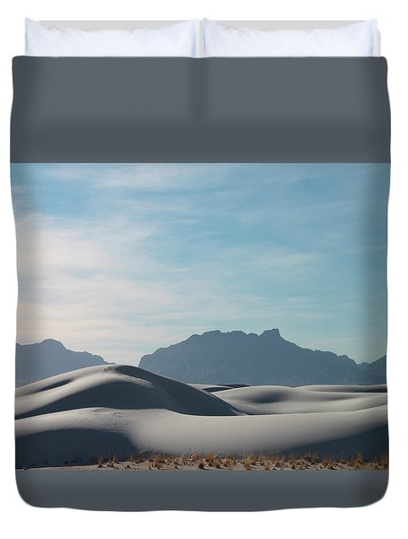 Duvet Cover featuring the painting White Sands Natural Anatomy  by Jack Pumphrey