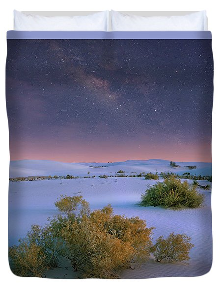 White Sands Starry Night Duvet Cover by Tim Fitzharris