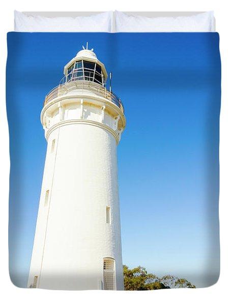 White Seaside Tower Duvet Cover