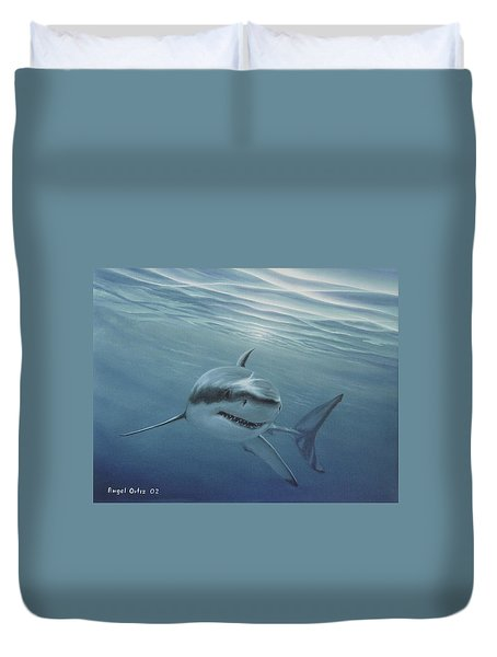 White Shark Duvet Cover