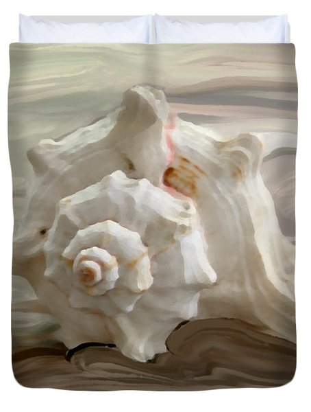 White Shell Duvet Cover