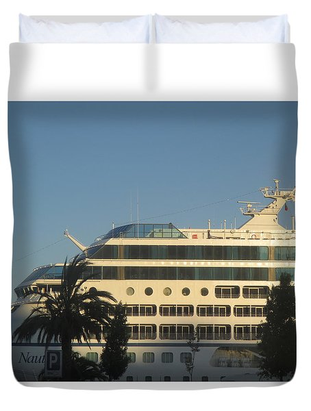 White Ship Duvet Cover