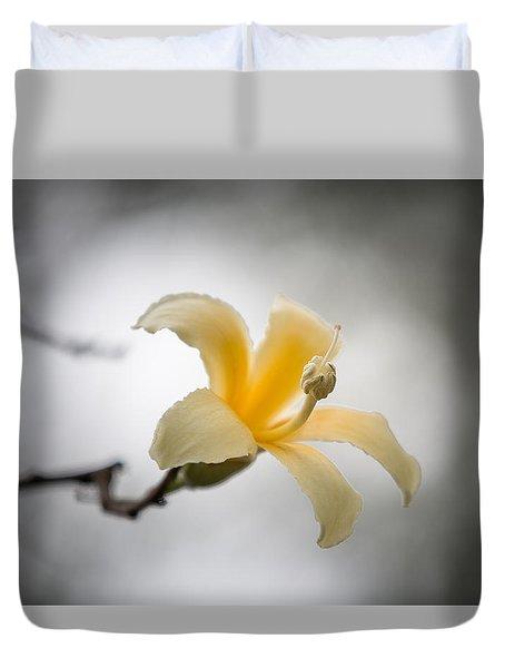 White Silk Floss 3 Duvet Cover