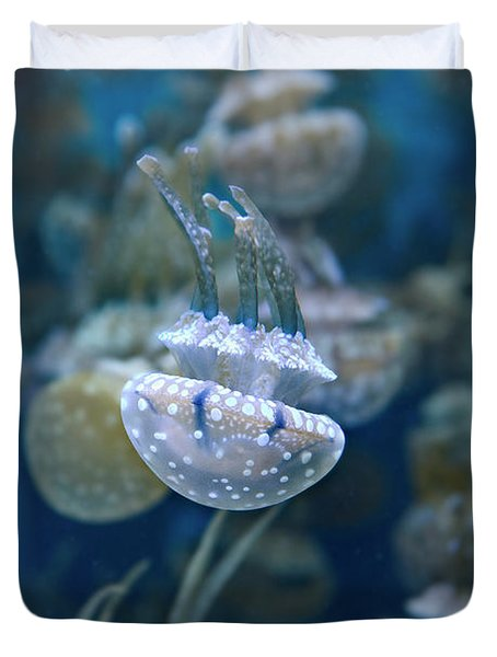 White-spotted Jellies Duvet Cover