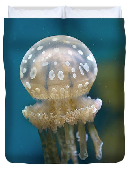 White-spotted Jellyfish Duvet Cover