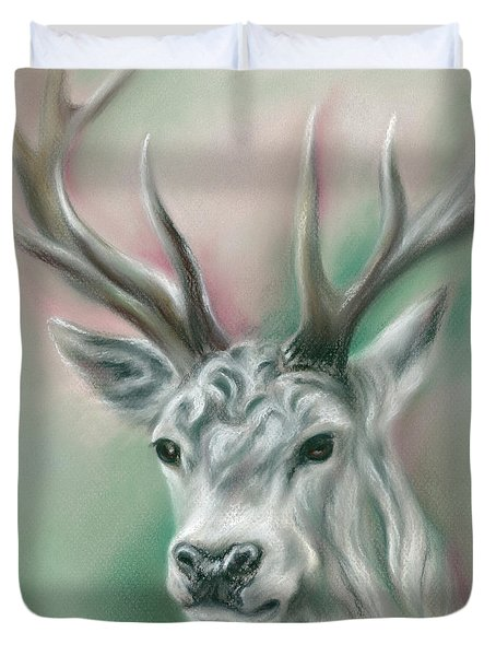 White Stag Duvet Cover