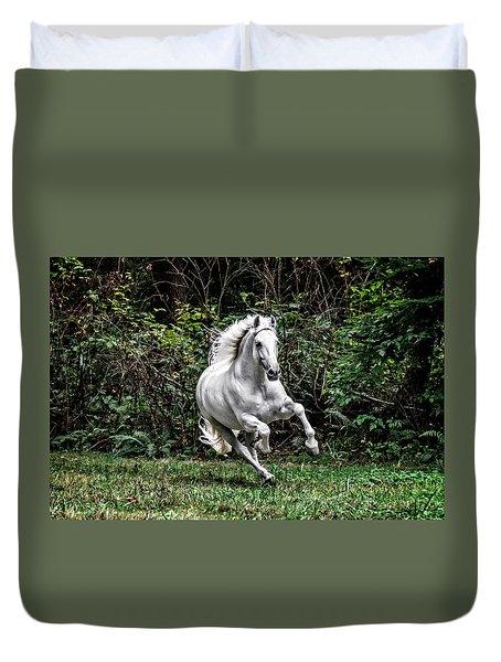 White Stallion Duvet Cover