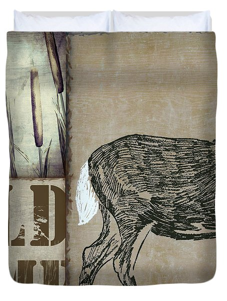 White Tail Deer Wild Game Rustic Cabin Duvet Cover
