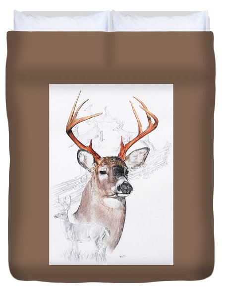 White-tailed Deer Duvet Cover by Barbara Keith