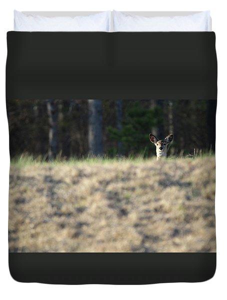 White Tailed Deer Calverton New York Duvet Cover