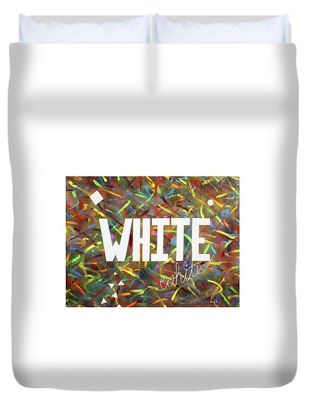 Duvet Cover featuring the painting White by Thomas Blood