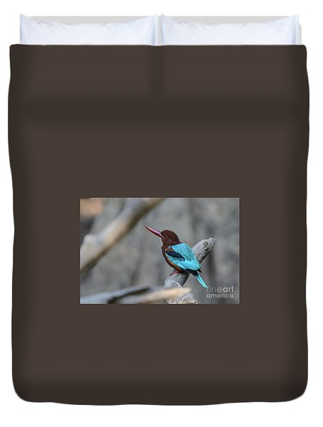 White-throated Kingfisher 02 Duvet Cover