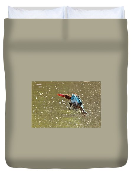 White-throated Kingfisher Duvet Cover