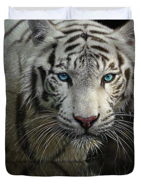 White Tiger - Into The Light Duvet Cover