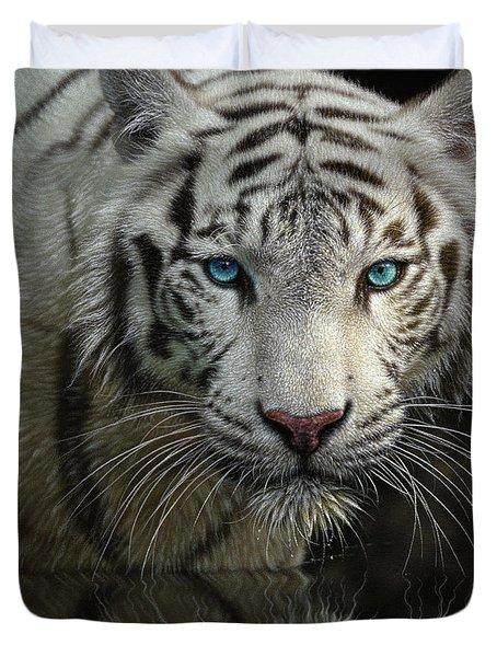 White Tiger - Into The Light Duvet Cover