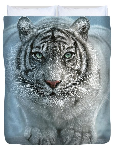 White Tiger - Wild Intentions Duvet Cover