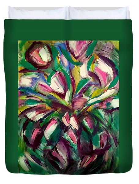 White Tulips Duvet Cover