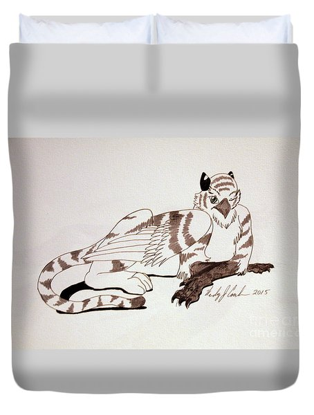 White Tygriff Duvet Cover by Wendy Coulson