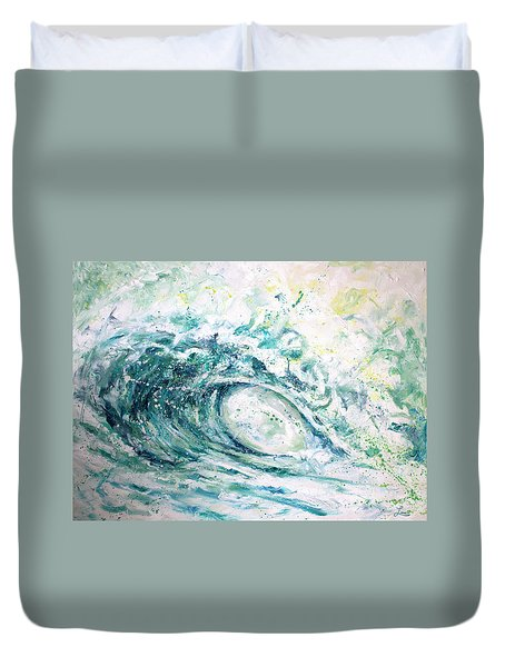 Duvet Cover featuring the painting White Wash by William Love