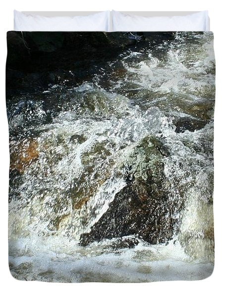 Duvet Cover featuring the digital art White Water by Barbara S Nickerson