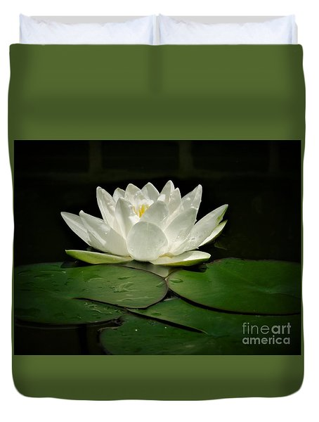 White Water Lily Duvet Cover