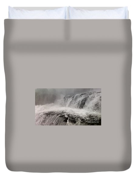 Duvet Cover featuring the photograph White Water by Raymond Earley