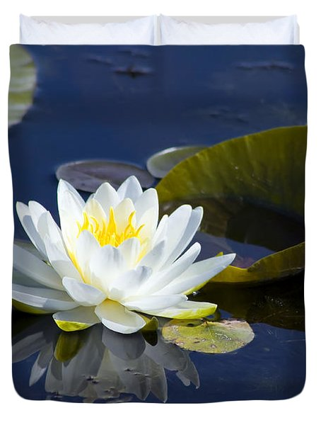 White Waterlily Duvet Cover