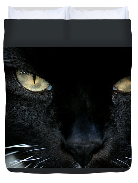 White Whiskers Duvet Cover
